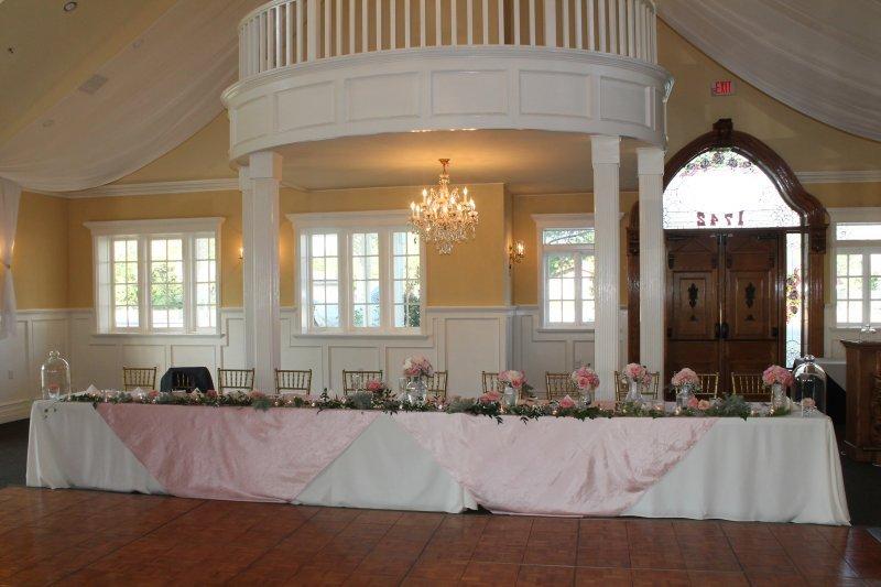 IWedding Party head table