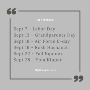September special days