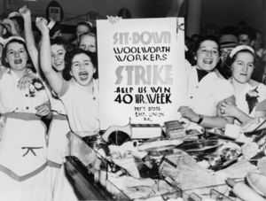 Labor day, Woolworth workers strike for a 40hr week