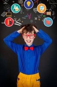 How to tie a bow tie scholarly child wearing bright primary colors