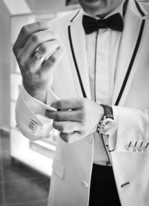The suave and debonair gentleman wearing a bow tie